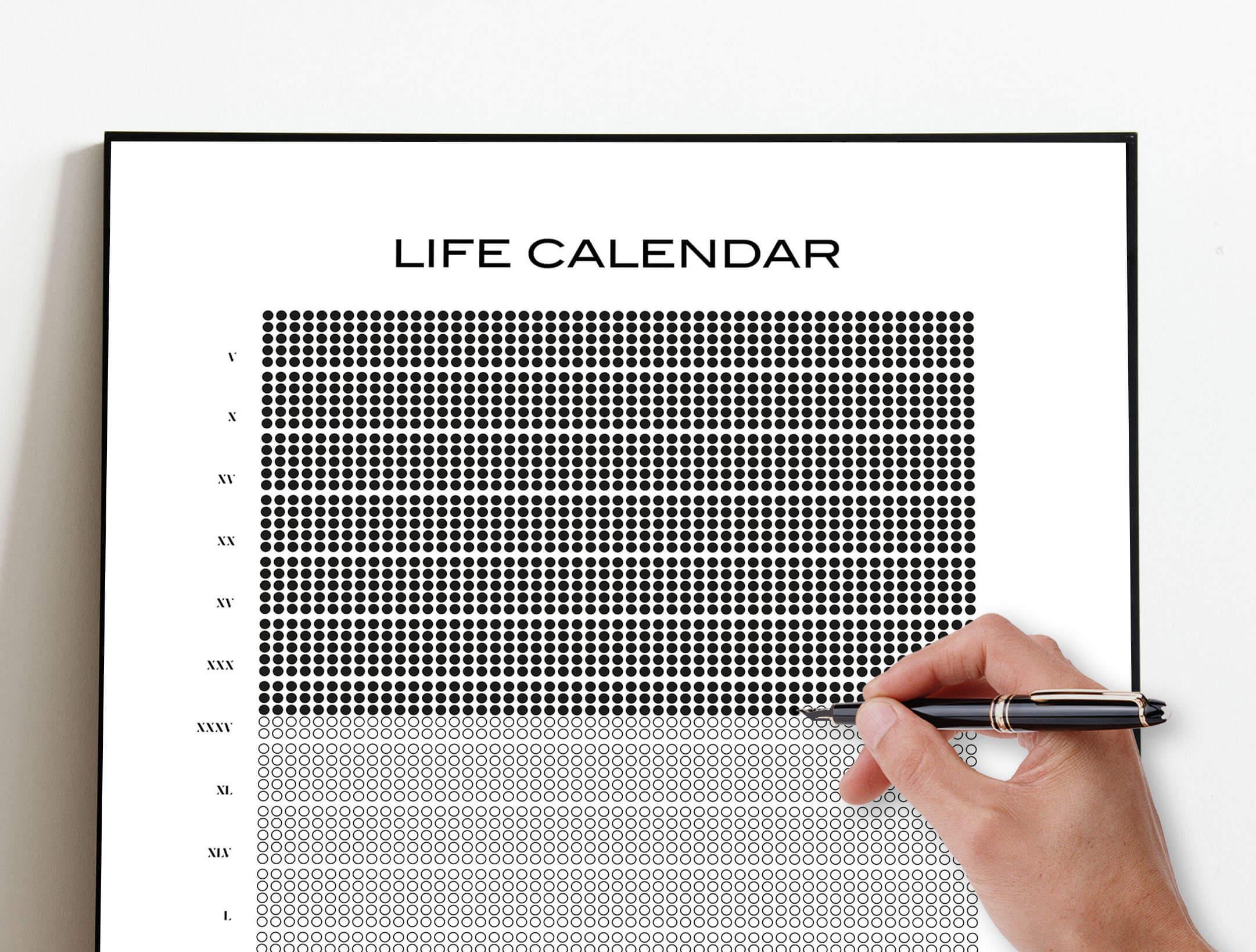 Mementor Mori life calendar 1